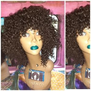 """8"""" Afro Kinky Curly human blend hair wig"""